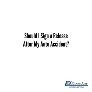 Should I Sign a Release After My Auto Accident?